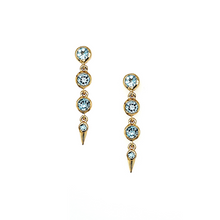 Load image into Gallery viewer, Medium Spike Earrings in Swiss Blue Topaz