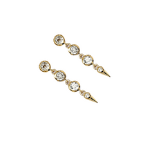 Load image into Gallery viewer, Medium Spike Earrings in White Topaz