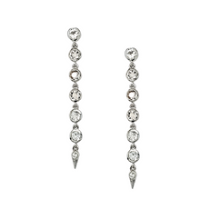 Load image into Gallery viewer, Spike Earrings in Morganite and White Topaz