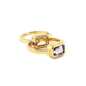 East West Ring in Citrine