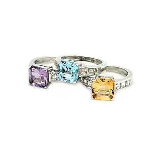 Asscher Ring in Citrine