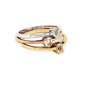 14K Stack Ring in Morganite