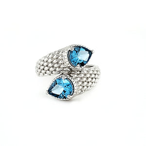 Balance Ring in Swiss Blue Topaz