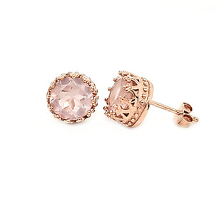 Pop Studs in Rose Quartz