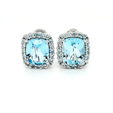 Load image into Gallery viewer, Portrait Studs in Blue Topaz