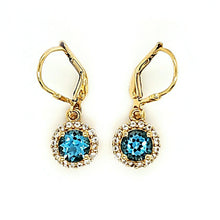 Load image into Gallery viewer, Pop Accent Earrings in Swiss Blue Topaz