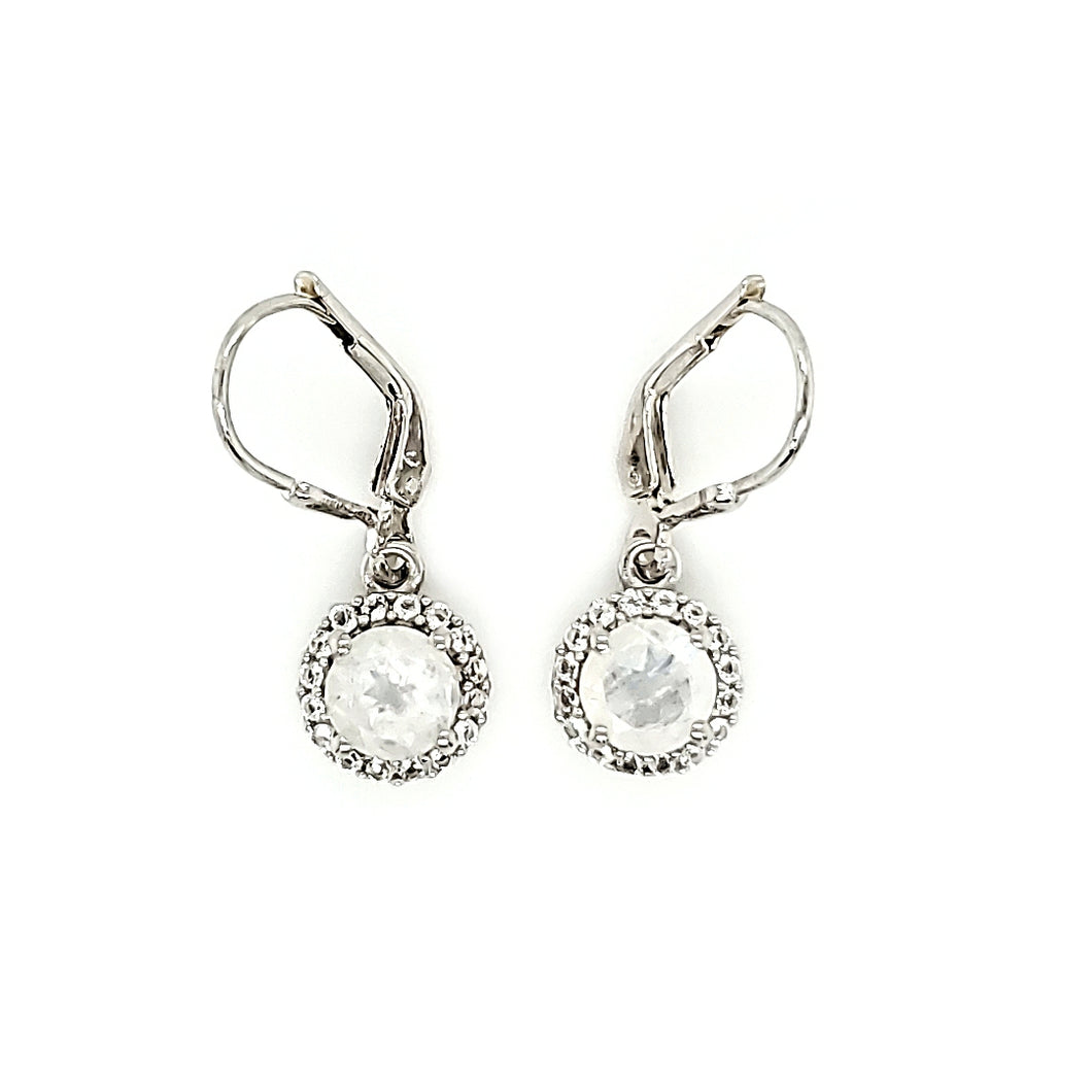 Pop Accent Earrings in Moonstone