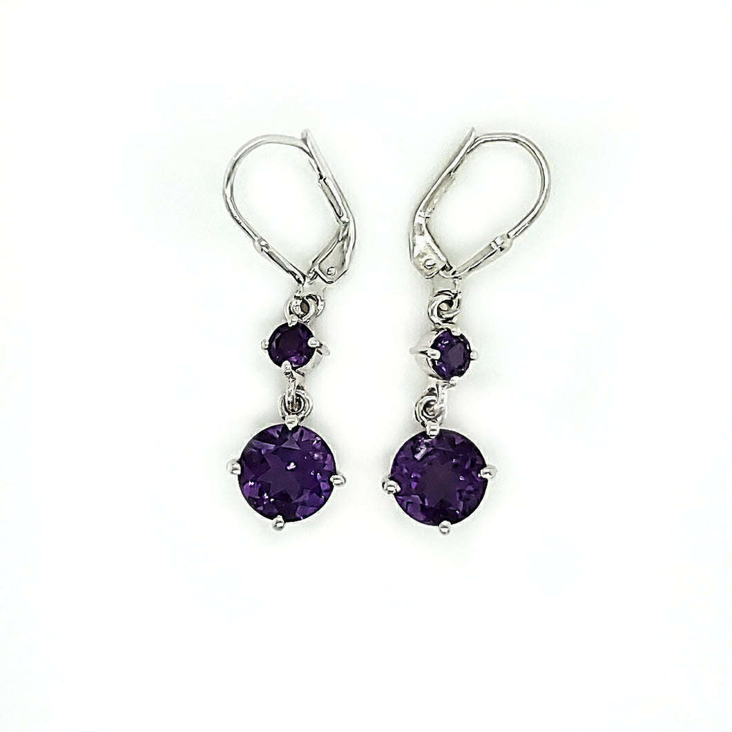 Pop Earrings in Dark Amethyst