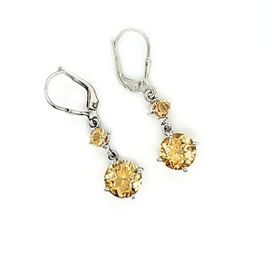 Pop Earrings in Citrine