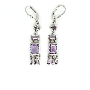 Tassel Earrings in Pink Amethyst