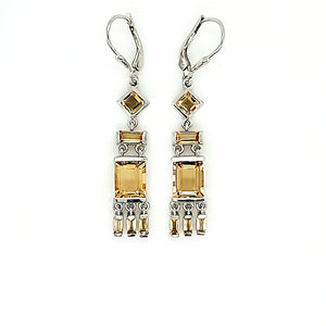 Tassel Earrings in Citrine