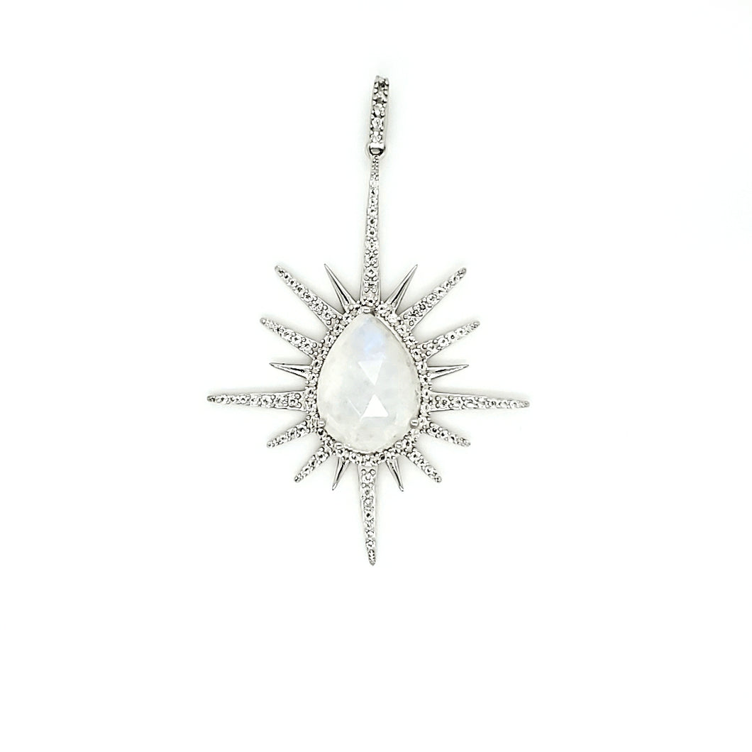 Starburst Pendant in Moonstone