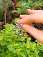 Load image into Gallery viewer, 18K London Blue Topaz and Diamond Hoop Earrings