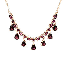 Load image into Gallery viewer, Station Necklace in Rhodolite