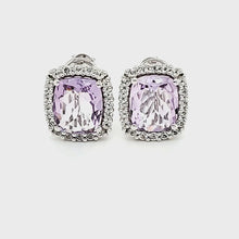 Load and play video in Gallery viewer, Portrait Studs in Pink Amethyst