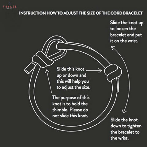 How To Adjust Rope Bracelet