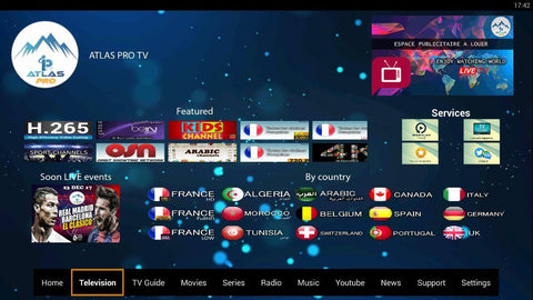 Atlas Pro Iptv Subscription withe worldwide channels And Vod for latest movies & series 1 year