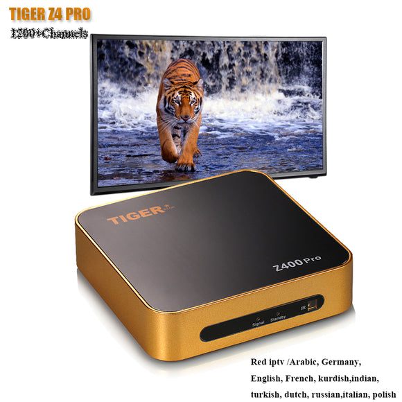 TIGER Z400PRO  Arabic IPTV With 1200+ Channels  Free 1 Year Satellite TV Receiver Europe channels over 700 channels