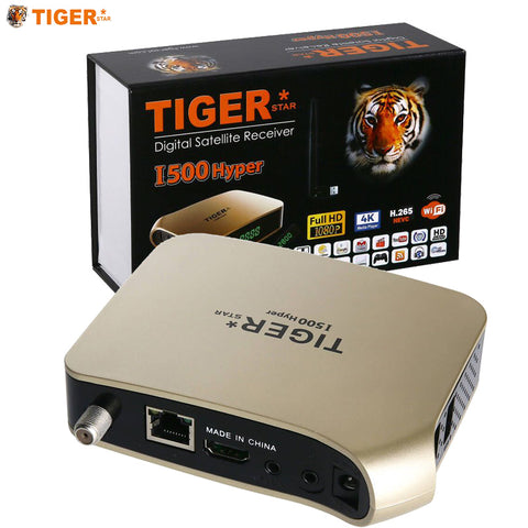 TIGER i500  Arabic IPTV Subscription Receiver Satellite Support 4K Display HEVC H.265 DVBS2 IPTV 1 Year TV BOX
