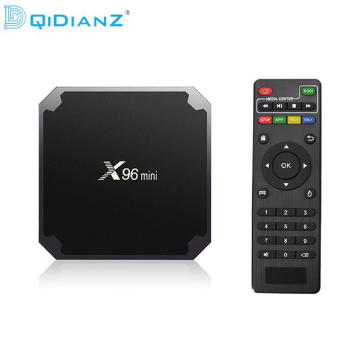 DQiDianZ X96mini Android 7.1 X96 mini Smart TV BOX S905W Quad Core support 2.4G Wireless WIFI Set Top Box+IR CABLE