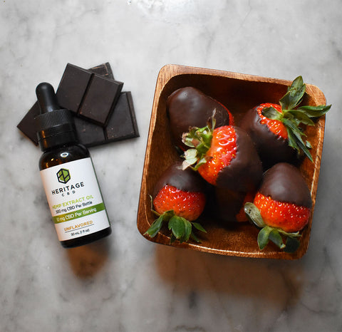 Hemp Extract Oil Infused CBD Chocolate Strawberries