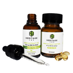 CBD Oil Unflavored and Hemp Extract Softgel