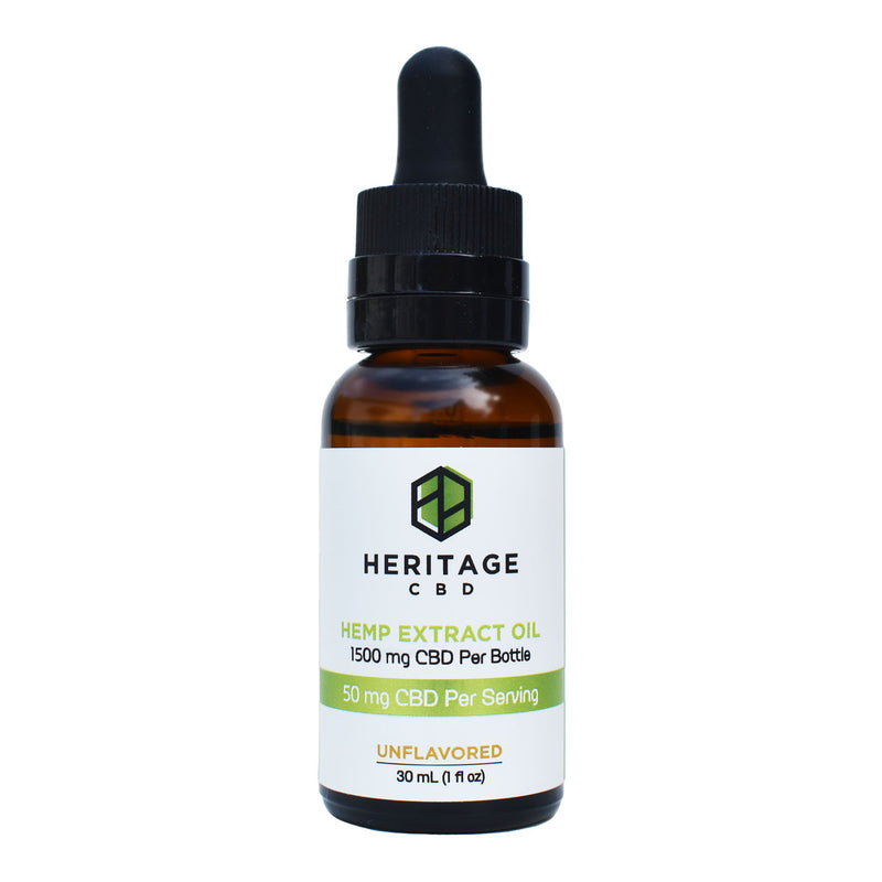 Tincture Unflavored - 50 MG Serving / 1500 MG Total Oil Drops
