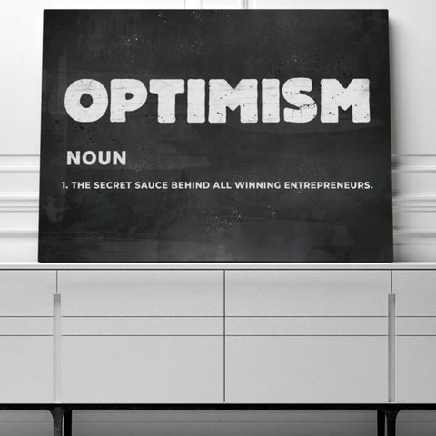 Optimism Win All Day Canvas Art
