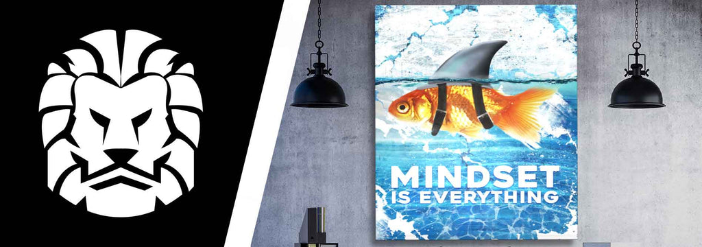 Mindset is everything - win all day - motivational and inspirational wall art poster