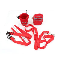 Running Dog Leash with Pockets and Dog Treat Pouch, Adjustable - FREE Sipping (www.Happy-Tails-Inc.ca)