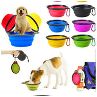 Dog Bowl -  Feeding Travel Bowl, Portable Foldable  - FREE Shipping (www.Happy-Tails-Inc.ca)