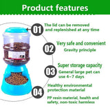 Automatic Dog/Cat Feeder, 3.5L Large Capacity Pet Drinking Water/Automatic Feeding - FREE Shipping (www.Happy-Tails-Inc.ca)