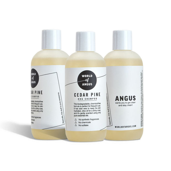 Dog Shampoo, Cedar Pine (World of Angus) - FREE Shipping (www.Happy-Tails-Inc.ca)