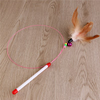 Cat Toy, Feather With Bell Beads - FREE Shipping (Happy-Tails-Inc.ca)