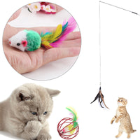 Christmas is coming soon!!!!!!!  Get ready with a great gift for cat lovers! 16pcs Pet Cat Toys Set Teaser and Exerciser for Cat and Kitten