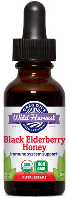 Black Elderberry Honey, Organic Alcohol-Free 1oz.