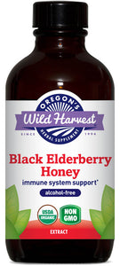 Black Elderberry Honey, Organic Alcohol-Free