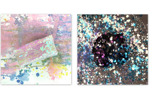 glitter painting