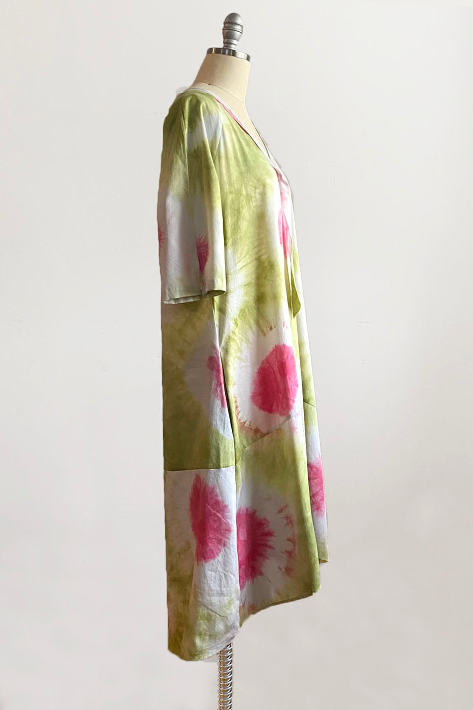 Coral Patchwork Print Bucket Hat 21""
