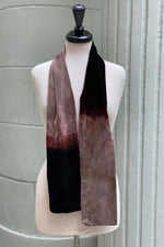 Load image into Gallery viewer, Silk Velvet Ombre Dyed Skinny Scarf