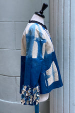 Load image into Gallery viewer, Ariel Jacket Itajime Dyed w/ Floral Applique - Small