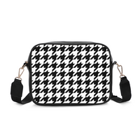 BLACK & WHITE HOUNDSTOOTH Crossbody Bag