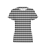 BLACK & WHITE HOUNDSTOOTH Women's Tee