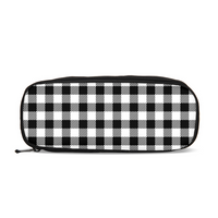 Black and White Plaid Pencil Case
