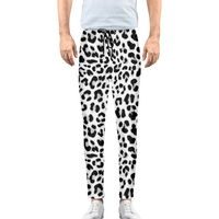 Black & White Leopard   Men's Joggers