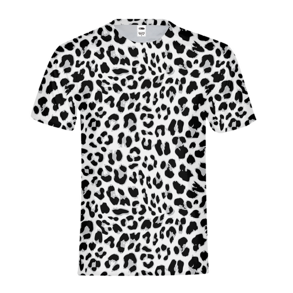 Black & White Leopard Kids Tee