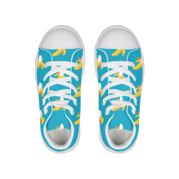 Banana Kids Hightop Canvas Shoe