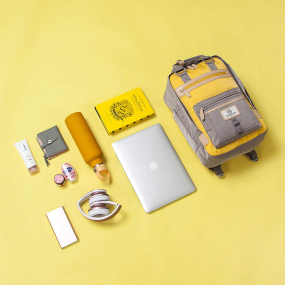 Wimbledon Backpack - Grey with Yellow