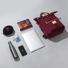 Canary Wharf Backpack - Burgundy