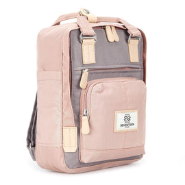Hackney Mini Backpack Pink & Grey